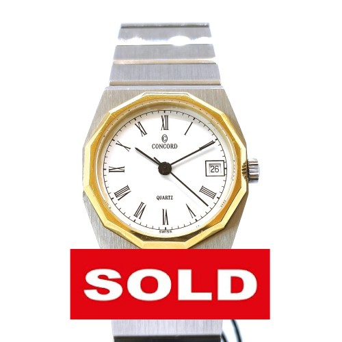 Concord Mariner SG Date 18k gold steel